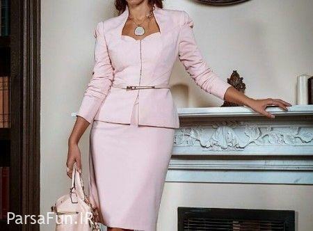 مدل کت دامن زنانه شیک و کار شده ۲۰۱۸