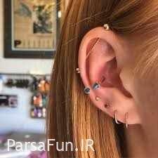 مدل گوشواره پیرسینگ 2018-60 مدل از انواع پیرسینگ گوش