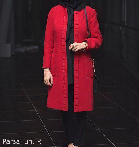 جدیدترین مدل مانتو قرمز مشکی زنانه و دخترانه 2018